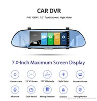 Wholesale cycling rear view mirrors resale online - Car DVR Full HD P Inch IPS Touch Video Recorder Camera Dual Lens with Rear View Camera Auto Registrator Dash Cam