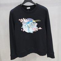 dinosaur sweatshirts 도매-19SS 벚꽃 기계 공룡 스웨터 남성 여성 봄 가을 거리 캐주얼 풀오버 긴 소매 셔츠 탑 HFHLWY020
