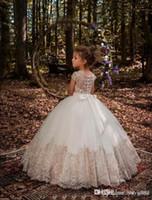 Flower Girl Dresses Birthday Look Off Shoulder Applique Ball Gown Girls Pageant Dress Custom Made