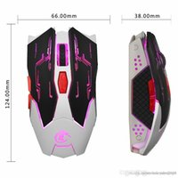 Wholesale peripheral mouse resale online - UK Retail Professional USB Wired Quick Moving LED Light Gaming Mouse Mice Game Peripherals with Six Buttons