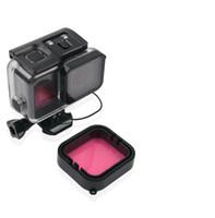 filter tauchen großhandel-Tauchen Farbfilter Objektivdeckel mit Gurt Für Hero 7 6 5 Schwarz Action-Kamera Super Suit wasserdichtes Gehäuse Fall