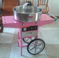 Wholesale cotton candy machines for sale - Group buy with CE v Electric Cotton candy machine with cart Commercial candy floss machine s cotton candy