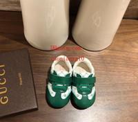 ingrosso scarpe da bambino semplici-scarpe per bambini Fondo morbido Sneakers con lacci per bambini Tessuto da cuciture Stampa semplice Mocassini scarpe da passeggio scarpe da bambino di alta qualità per bambini ad-11