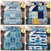 Wholesale bedspreads for king sized beds resale online - Fashion Anchor Bedding Set Duvet Cover Set for Adult Kids Bedspread Queen King Double Size