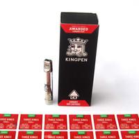 наклейки подарочные коробки оптовых-Kingpen 710 Картриджи Красная Подарочная Коробка Упаковка 1.0 мл Стеклянный Бак Керамическая Катушка Vape Густой масляный распылитель с ароматом наклейки