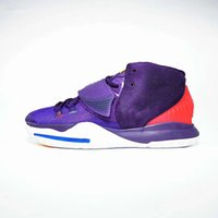 zapatos de baloncesto luminosos al por mayor-De Halloween luminoso Kyrie 6s verde zapatos de baloncesto 6 Grand púrpura negro para hombre de alta calidad Formadores barato Venta Deportes zapatillas de deporte Tamaño 7-12