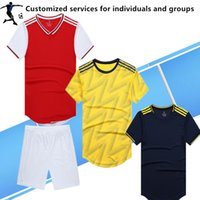 Wholesale soccer jerseys for teams resale online - Customized services for Player Version DIY Soccer Jersey Adult kit breathable custom personalized services school team Football Shirt