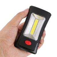 kendini savunma el feneri toptan satış-Açık LED el feneri Taktik Çok Fonksiyonlu Manyetik Katlama Taşınabilir Kanca Öz Savunma Batarya Şarj edilebilir Güvenlik Meşalesi Sıcak Satış 10yt bb