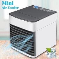 tragbare hausklimaanlagen großhandel-Mini tragbarer Arctic Air Cooler mit LED-Licht Persönliche Raumklimaanlage Desktop USB-Lüfter für das Home Office