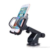gösterge tablosu cep telefonu tutucuları toptan satış-Yeni Universal Araç Cep Telefonu Tutucu Stand Dashboard Cam Yapışkan Cep Telefonu Tutucu iPhone için Destek Samsung GPS (Perakende)