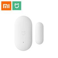 комплект для сигнализации дверной коробки оптовых-[Горячая]Оригинальный Xiaomi Двери окна датчик карманный размер xiaomi умный дом комплекты сигнализация работа с Gateway mijia mi home app