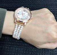 hermosas mujeres reloj al por mayor-JNMM Hermoso reloj de pulsera de perlas de agua dulce natural real para mujer, regalo de cumpleaños de pulsera de niña de moda