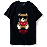 мм одежда оптовых-19ss новый список мода футболки с коротким рукавом топы высокое качество футболка для женщин Tee Мужская одежда хлопок повседневная Письмо печати одежда мм