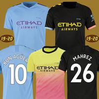futbol xl toptan satış-19 20 FC Manchester City soccer jersey football shirt man De Bruyne MENDY futbol formaları 2019 2020 ADAM KUN AGUERO ŞEHİR forması futbol forması BERNARDO SILVA erkekler