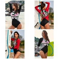 Wholesale xxl padded bikinis online – Hot Spring Triangle Conjoined Swimwear With A Chest Pad Flower Splicing Printing One Piece Suits Ladies Summer Bikini Set Fashion sy I1