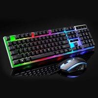xbox ladungskit großhandel-USB-Lade-Licht-Tastaturmaus-Kit Regenbogen-LED-Spielausrüstung für PS4 Xbox One