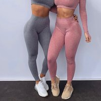 Wholesale women s seamless leggings for sale - Group buy Women Vital Seamless Leggings Tummy Control Squant Gym Legging Stretchy Athletic Sport Leggings Ribbed High Waisted Yoga Pants
