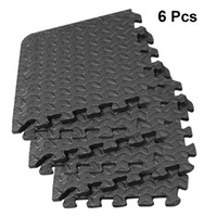 6Pcs Splicing Floor Mats Yoga Mats Patchwork Rugs Thicken Absorption Floor Pads EVA Leaf Grain For Gym Dance Room