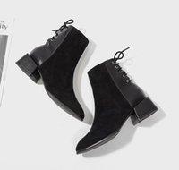 faldas de bota al por mayor-Negro 2019 de invierno nueva red gruesa roja del talón de tacón alto de la falda botas retro salvaje de la Mujer Botas