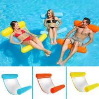 piscinas plegables al por mayor-Hamaca de agua flotante plegable Silla flotante de hamaca Juguetes flotantes inflables Cama flotante Silla Hamaca inflable Cama inflable