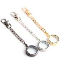 kayan cazibe anahtar zincirleri toptan satış-Yeni Moda Diy Madalyon Anahtarlık Manyetik Cam Yüzen Bellek Takılar Madalyon Kolye Istakoz Kapat Anahtarlık Noel Hediyesi