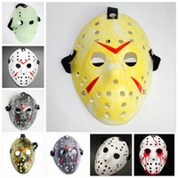 máscaras jason venda por atacado-Jason Voorhees Máscara Adultos Masquerade Máscaras de Crânio Máscara de Filme de Paintball Assustador Halloween Costume Cosplay Festival Máscaras de Festa GGA2457
