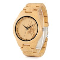 Wholesale custom logo watches for sale - Men Women Handcrafted Wood Original Watches With Bamboo Band Custom Logo Design Your Own Unisex Bamboo Wood Watch for Couple