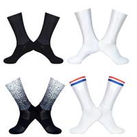 seamless slip 도매-새로운 여름 통기성 사이클링 양말 남성 안티 원활한 에어로 자전거 내마 모성 도로 Calcetines Ciclismo 슬립