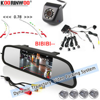 Wholesale monitor for parking sensors resale online - Koorinwoo Car Parking Sensor Dynamic Trajectory Reverse Camera Buzzer Radars Show Distance on Monitor Rear View For Audio System