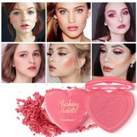 ingrosso il miglior trucco di arrossire-Kiss Beauty Blush Powder Powder 8 colori Blusher Powdered Powder Palette Miglior trucco Love Gift Sweet Heart Fard Face Beauty