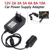 Wholesale car socket adaptor for sale - Group buy High Quality EU US Plug DC V A A A A A A Power Supply Adapter Car Cigarette Lighter Socket Power Adaptors