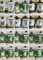 vintage jersey de estrellas del norte al por mayor-Minnesota Vintage estrellas del norte de hockey sobre hielo de los jerseys 1 Gump Worsley 9 Mike Modano 20 Dino Ciccarelli 11 JP PARISE 4 Hartsburg jerseys Broten