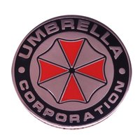 şemsiye rozeti toptan satış-Resident evil şemsiye corporation rozeti güvenlik TSI ekibi pin kostüm flair aksesuar eğlenceli şık hediye fikri