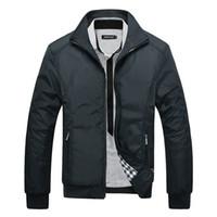 модные рабочие куртки оптовых-2019 Jacket men casual Busiess Work jackets Spring Autumn Fashion Slim Fit Men Thin Jackets  Casual Coat Clothing