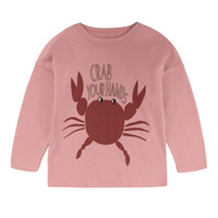 Wholesale baby girl clothing winter for sale - Baby Printed Cartoon T shirt Long Sleeve Round Neck Moisture Wicking Soft Shirts Boy Designer Blouse Girl Clothes