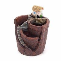 caixas de plantas suspensas venda por atacado-Sky Garden Suculenta House Flower Basket Planter Pot Trough Box Bed Hanging Garden