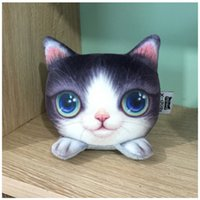Wholesale 3d back pack online – custom 3D Cute Cat Shape Pillow Car Chair Back Cushion Pillow with Bamboo Charcoal Pack Headrest Decor Car Styling