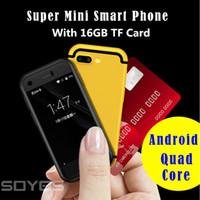 1 micro camera venda por atacado-Super Mini Android Telefone Inteligente Original SOYES 7 S MTK6580 Quad Core 1 GB + 8 GB + 16 GB de Memória 5.0MP Dual SIM Telefone Celular Celular X Vermelho cor de Ouro