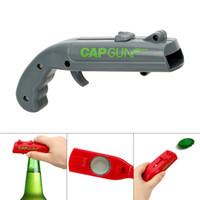 şişe kapağı içeceği toptan satış-Can Açacakları Bahar Kap Mancınık Başlatıcısı Gun şekli Bar Aracı İçecek Açılış Shooter Bira Şişe Açacağı Yaratıcı MMA2096