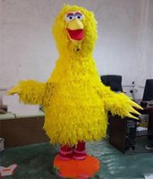 disfraces trajes de aves al por mayor-2019 alta calidad Sesame Street Big Bird traje de la mascota del personaje de dibujos animados para adultos vestido de lujo