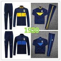 kaplan üniforma toptan satış-1920 7 Yıldız Kaplan Eşofman UANL Mavi Gömlek 2019 2020 Meksika Kulübü Futbol Üniforma Eğitim elbise Uzun Fermuar Spor Giyim Setler