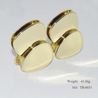 ovale legierungsknöpfe großhandel-20 teile / los pale gold hochwertige legierung frau tasche dekorative sperre oval ei knopfschloss