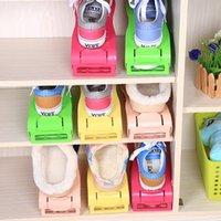 salas de rack venda por atacado-Sapatas dobro do armazenamento da cremalheira que limpam o organizador novo da sapata