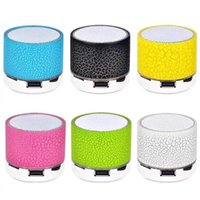 Wholesale china free phone calls resale online - New LED mini wireless bluetooth speaker TF USB FM portable musical subwoofer loudspeakers hand free call for phone