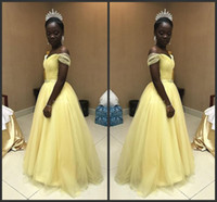 Elegant Amazing Prom Dresses Cheap Off Shoulder Black Girl Formal Party  Evening Gown A Line Tulle Special Occasion Dress Robe De Mariee