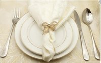 синие кольца оптовых-4PCS high-grade mouth cloth Western napkin buckle hotel napkin ring ring bow towel buckle