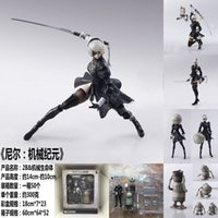 Wholesale fight toy resale online - 14cm Nier Automata Yorha No Type B b Fighting Action Figure Pvc Toys Collection Doll Anime Cartoon Model For Christmas Gift J190722