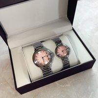 rosa fuerte relojes mujeres al por mayor-Venta caliente 2019 Pink dial Fashion lady relojes mujeres de lujo reloj de plata de acero inoxidable pulsera relojes mujer reloj gota envío