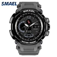 Wholesale waterproof military watches for men resale online - SMAEL Brand LED Watch Waterproof M Sport Wrist Watches Stopwatch Grey Military Watch Digital LED Clock Army Watch for Men