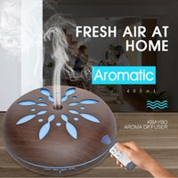 máquina de aromaterapia ultrasónica al por mayor-Máquina de aromaterapia ultrasónica 550 ml de madera humidificador de aire hogar protección ambiental atomizado aceite esencial difusor lámpara de luz
